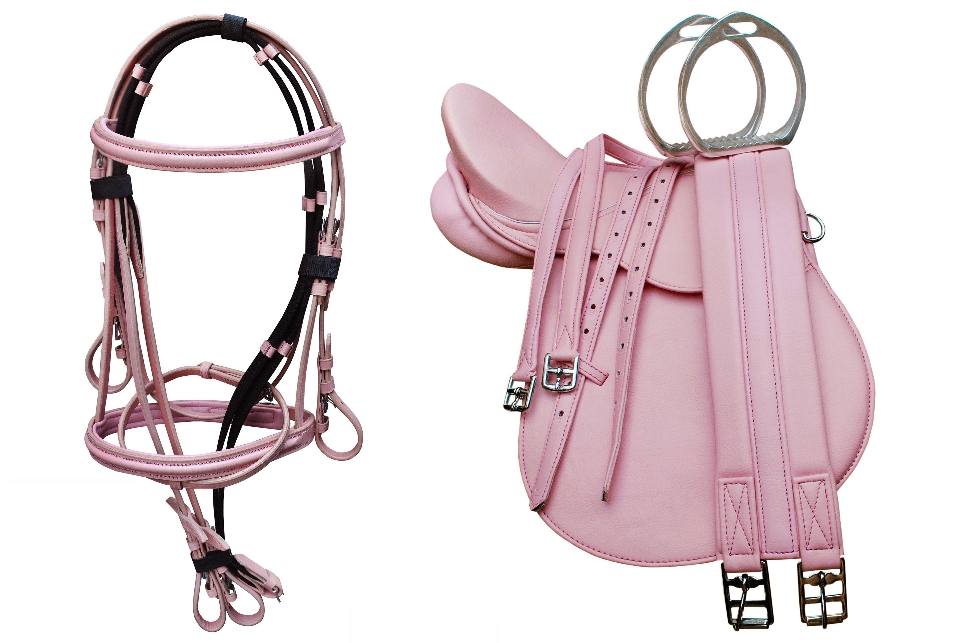 13 Horse Pony Riding Pink English Saddle Set Bridle Girth Stirrups 804azes1033 Walmart Com Walmart Com