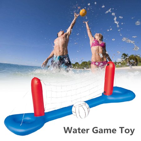 Inflatable Floating Swimming Pool Volleyball Net Ball Set Water Volleyball Game Toy For