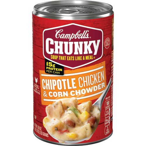 Campbell's Chunky Chipotle Chicken & Corn Chowder, 18.8 oz.