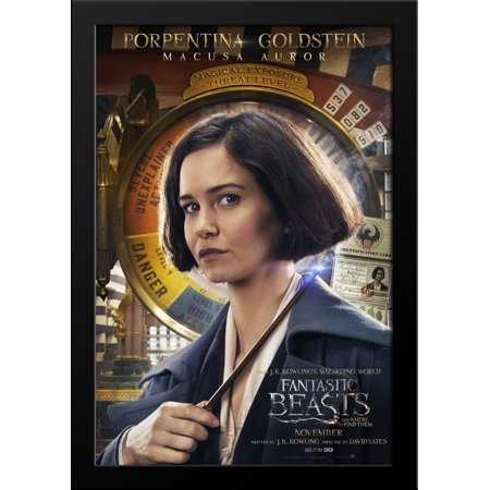 Fantastic Beasts And Where To Find Them 28x36 Large Black Wood Framed Movie Poster Art Print ()