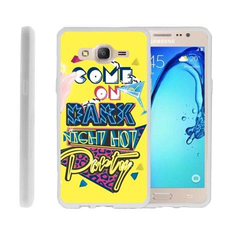 Samsung Galaxy On5 G550, Flexible Case [FLEX FORCE] Slim Durable  Sleek Bumper with Unique Designs - Dark Night Hot Party - Party Galaxy Okc