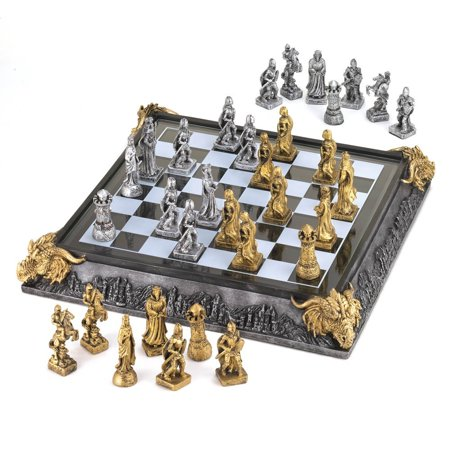 Koehler 35301 17 Inch Medieval Knights Chess Game Set (Knight Chess Set)