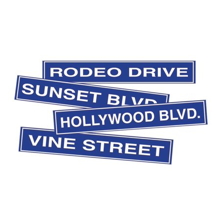 Hollywood Signs For Sale (50095 4-Pack Hollywood Sign Cutouts, 4-Inch by 24-Inch, This item is a great value! By)