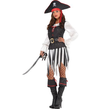 Sew It Yourself Halloween Costumes (Suit Yourself High Sea Sweetie Pirate Halloween Costume for Women, with)
