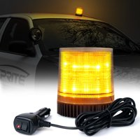Xprite Amber 12 LED 6W LED Magnetic Mount Strobe and Rotating Beacon Light