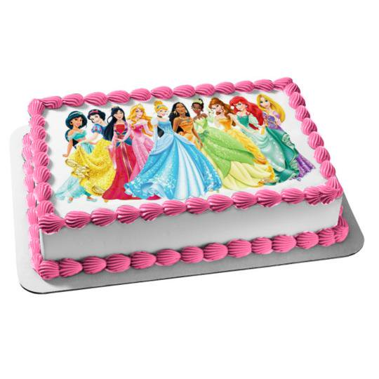 Remarkable Disney Princess Ariel Belle Aurora Mulan Jasmine Edible Cake Funny Birthday Cards Online Alyptdamsfinfo