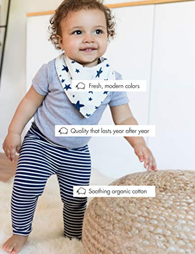 Coral Star Moon and Back by Hanna Andersson Baby//Toddler 2-Piece Organic Cotton Long Sleeve Star Print Pajama Set 3T