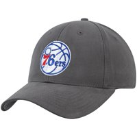 Men's Charcoal Philadelphia 76ers Mass Basic Adjustable Hat - OSFA