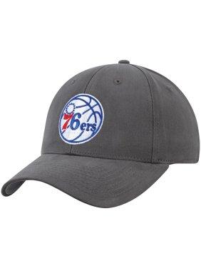 Men's Charcoal Philadelphia 76ers Mass Basic Adjustable Hat - OSFA