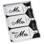 Set of 3 Mr., Mrs. & More Mrs. Luggage Tags