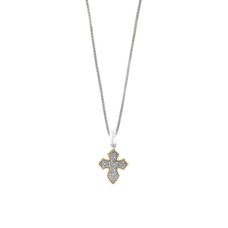 925 Sterling Silver, 18K Yellow Gold & Diamond Necklace](Betsey Johnson Halloween Necklace)