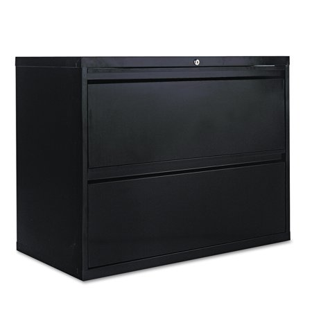 Alera 2 Drawers Lateral Lockable Filing Cabinet Black Walmart