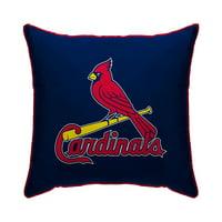 "St. Louis Cardinals 18"" x 18"" Plush Team Logo Decorative Throw Pillow - Blue"