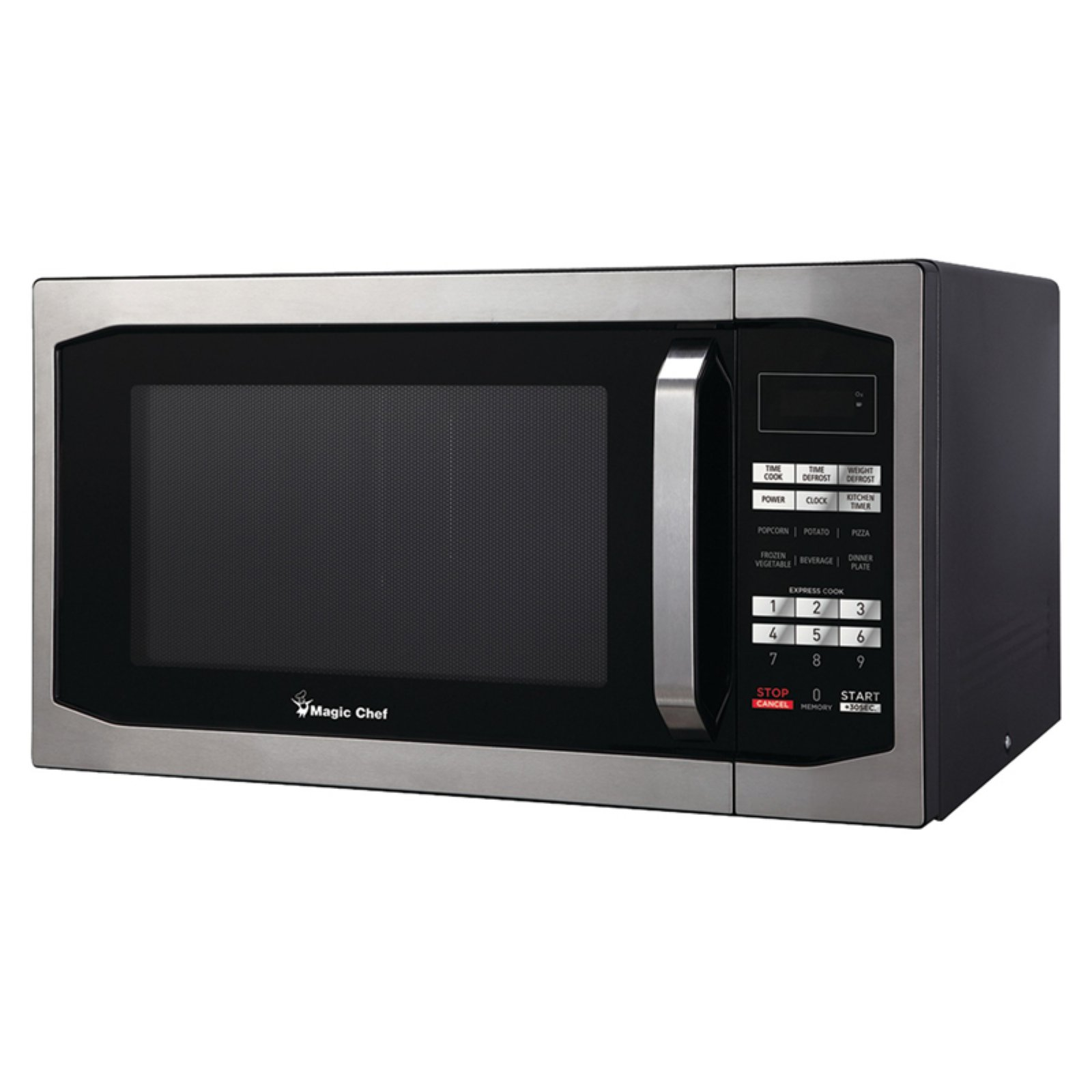 Magic Chef MCM1611ST 1.6 cu ft Countertop Microwave, Stainless Steel