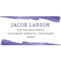 Painting Fun Personalized Address Label