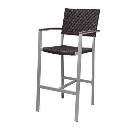 Source Contract SC-2201-173-ESP Fiji Bar Arm Chair, Espresso Weave ()