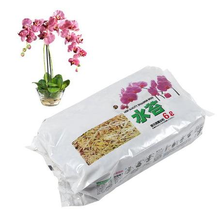 Hilitand 6L Garden Sphagnum Moss Moisturizing Nutrition Organic Fertilizer For Phalaenopsis Orchid, Phalaenopsis Sphagnum Moss, Long Fiber Sphagnum