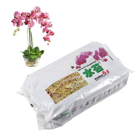 HERCHR Fertilizer Moss, 6L Garden Sphagnum Moss Moisturizing Nutrition Organic Fertilizer For Phalaenopsis Orchid, Long Fiber Sphagnum