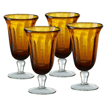 Footed Goblet - Artland Savannah Bubble Goblet - Set of 4