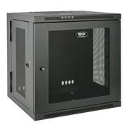 Tripp Lite SmartRack 12U Low-Profile Switch-Depth Wall-Mount Rack Enclosure Cabinet, Hinged Back