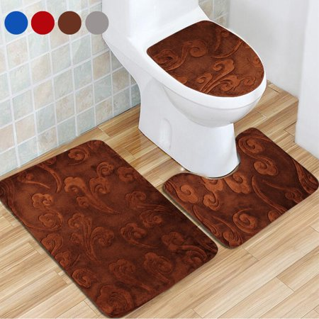 Admirable 7 Patterns Bathroom Rug Set Luxury Soft Bath Mat Countour Pedestal Rug Toilet Seat Lid Cover Non Slip Rubber Floor Carpet Water Absorbent Home Decor Gmtry Best Dining Table And Chair Ideas Images Gmtryco