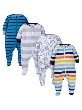 Onesies Brand Baby Boy Sleep 'N Play Pajamas, 4-Pack