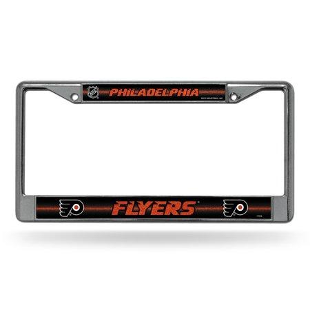 Philadelphia Flyers NHL Glitter Bling Chrome License Plate Frame Car Truck Wall