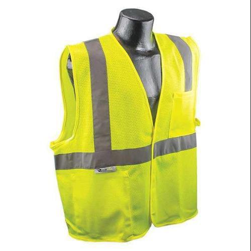 RADIANS SV2GM4X High Visibility Vest, 4XL, Green, 34in., HL