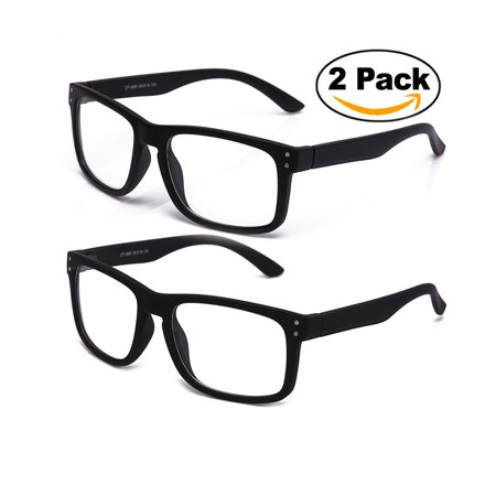 Newbee Fashion - Sporty Fashion Clear Lens Glasses Keyhole Large Squared Style Fashion Clear Frames (Extra Large Glasses Frames)