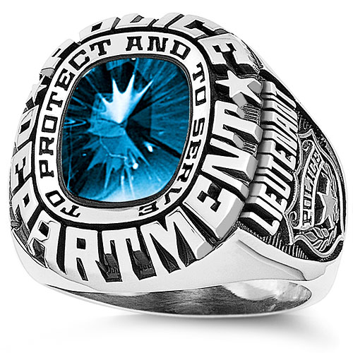 Keystone Men's Personalized  Service Ring Sheriff, Police, Fire, and EMT