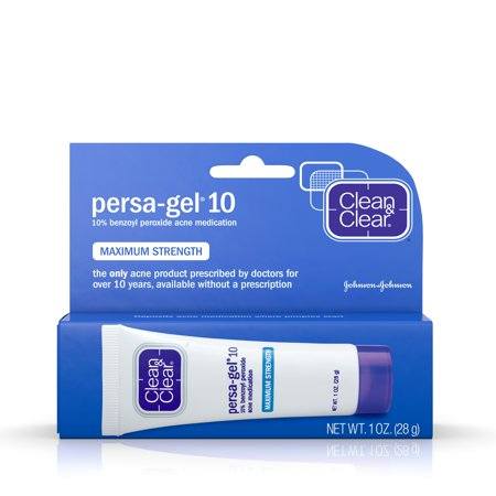 (2 pack) Clean & Clear Persa-Gel 10 Acne Medication with Benzoyl Peroxide, 1 - Acid Acne Treatment Power Foam