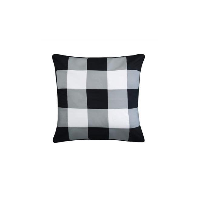 Edie Home Eah079bk555998 20 X 20 In Outdoor Gingham Decorative Pillow 44 Black Walmart Com Walmart Com