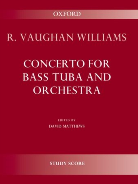 Concerto for bass tuba and orchestra: Study score (SHeet music) by