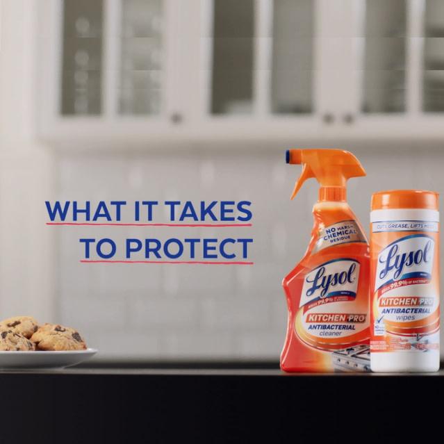 Lysol Kitchen Pro Antibacterial Cleaner Walmart Com Walmart Com