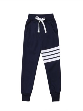 Baby Boy Girls Sports Pants Toddler Kid Sweat Pants Joggers Elastic Bottoms 1-7T