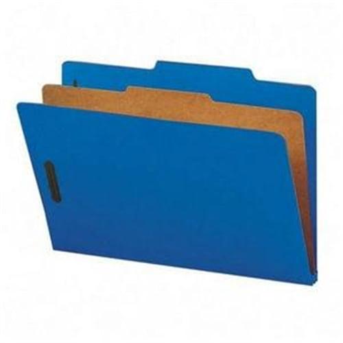 Smead Dark Blue Colored Pressboard Classification Folders with SafeSHIELD Fasteners 18732