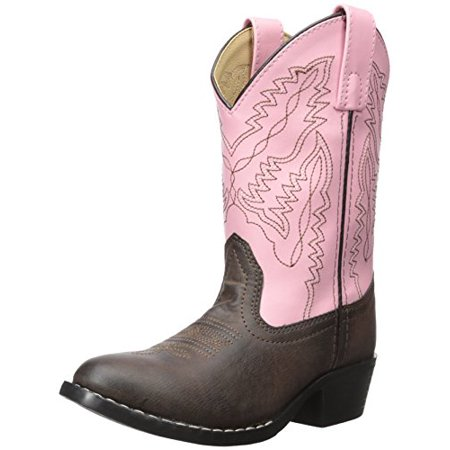 Smoky Mountain Childrens Girls Monterey Boots Brown/Pink, 3M - image 1 of 1