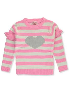 Pink Angel Girls' Heart Stripe Sweater