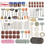 """166 Grinding Rotary Tool Grinding Cleaning Cutting Disc Mixed Set Accessory Bit Set For Dremel 1/8"""" Electric Polishing Sanding Polisher"""