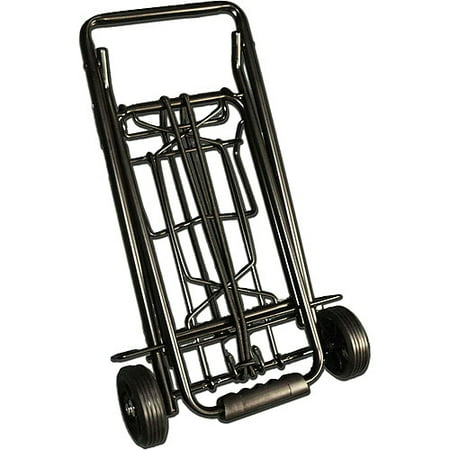 Black Metal Luggage Cart (Best Luggage Cart For Car Seats)