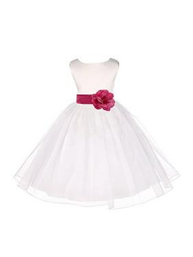 a5ed6c74505 Free shipping. Product Image Ekidsbridal Ivory Satin Bodice Organza Flower  Girl Dress Easter Summer Dresses Communion Dress Baptism Dress Toddler