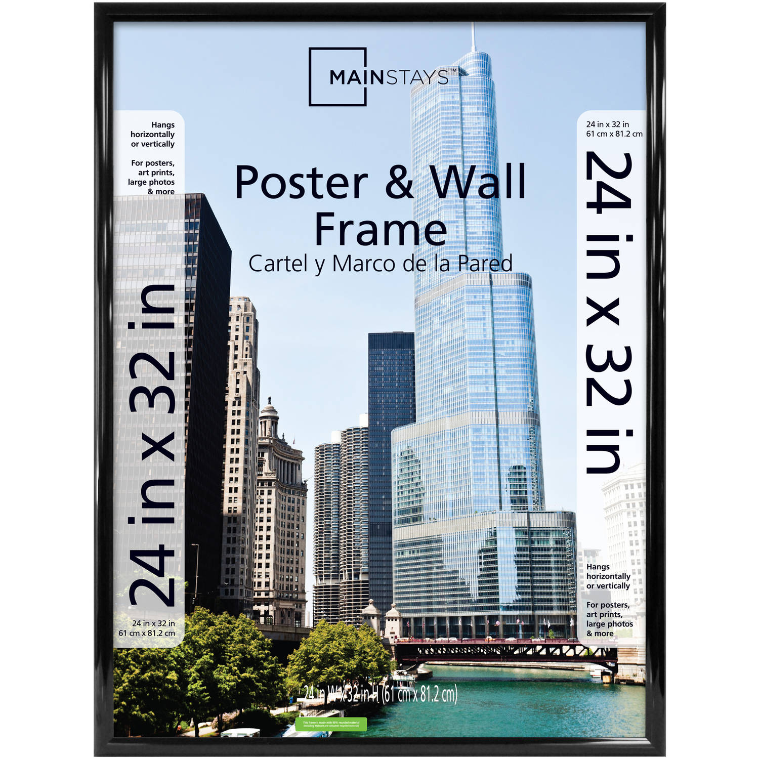 mainstays 24x32 trendsetter poster and picture frame black walmartcom