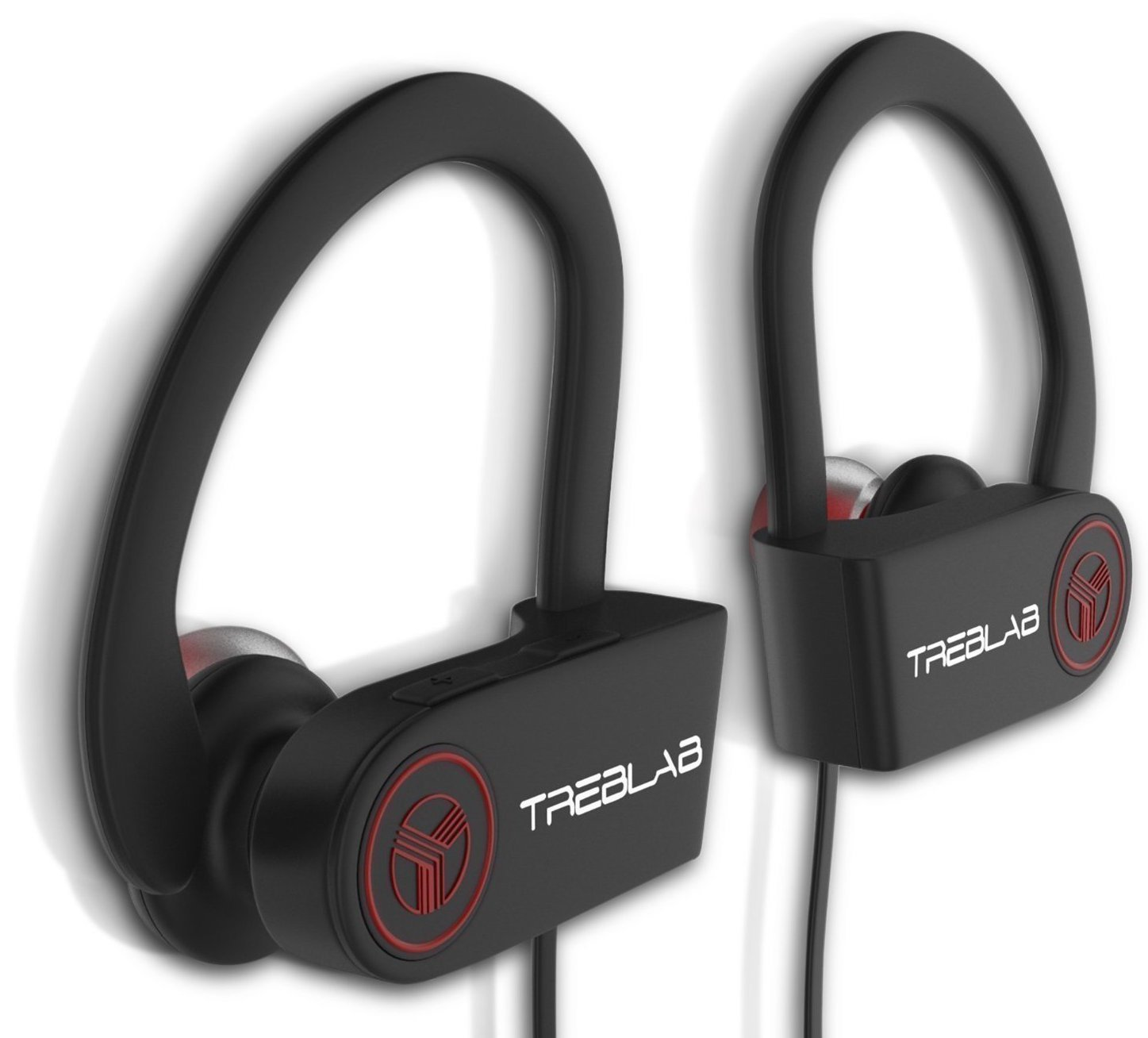 TREBLAB XR100 Bluetooth Sports Headphones, Best Wireless Earbuds For Running or Workout, Noise Cancelling Sweatproof Cordless Headset For Gym, True HD Beats Earphones w/ Mic For Iphone Android
