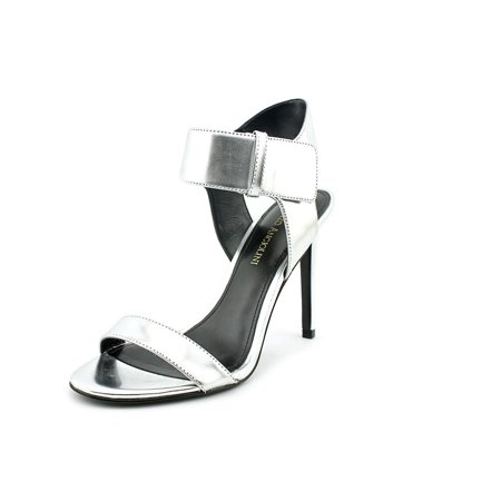 Enzo Angiolini Brodee Women Open Toe Synthetic Silver Sandals - Walmart.com 572721a0aad1