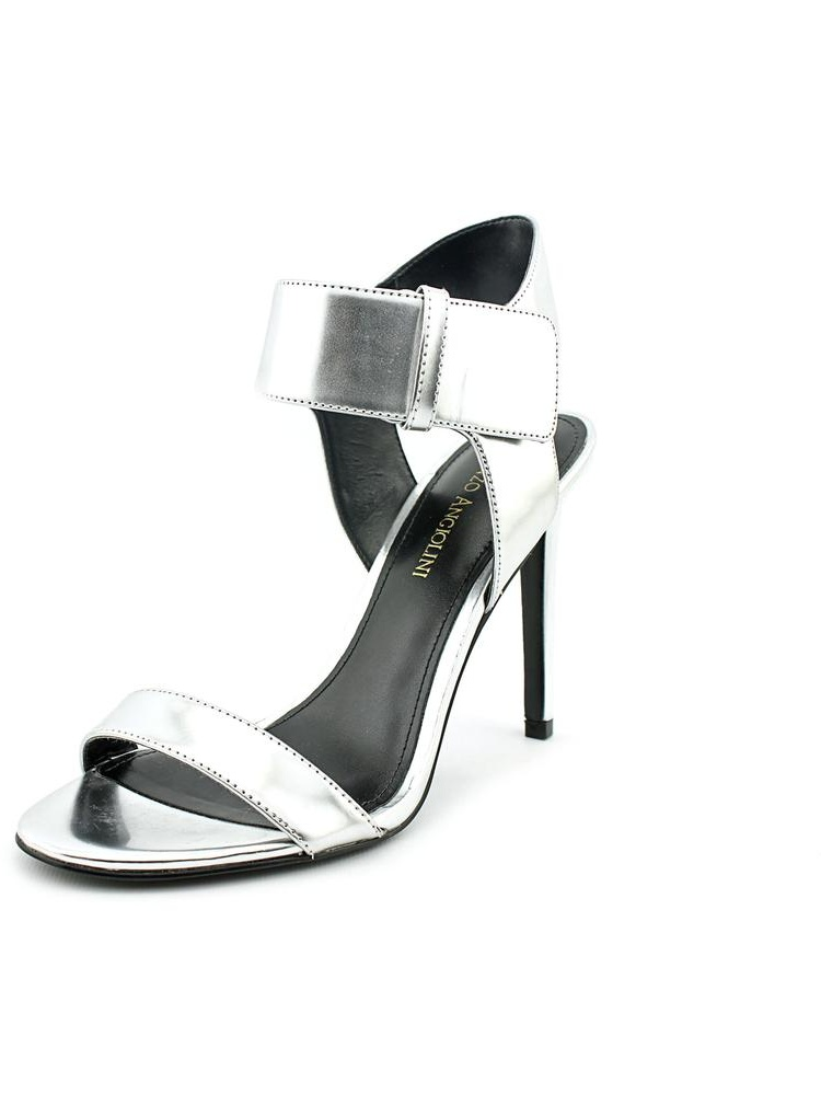 Enzo Angiolini Brodee Women  Open Toe Synthetic Silver Sandals