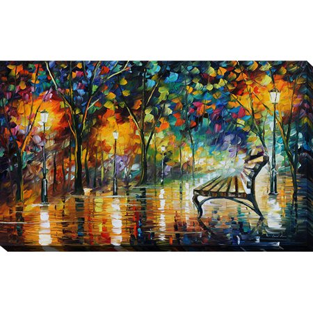 Picture Perfect International Night Loneliness By Leonid Afremov Painting Print On Wrapped Canvas