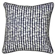 "Laura Fair By Rizzy Home Decorative Poly Filled Throw Pillow Stripe 18""X18"" Navy"