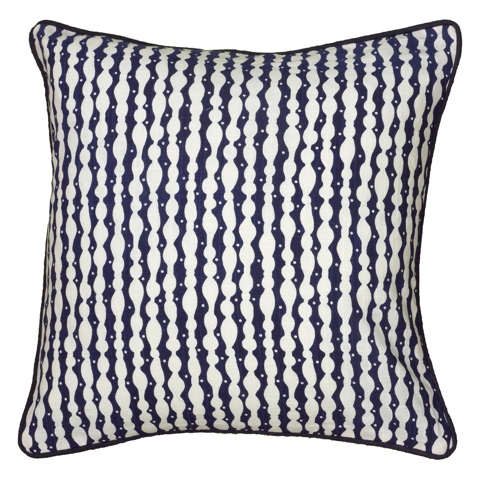 """Laura Fair By Rizzy Home Decorative Poly Filled Throw Pillow Stripe 18""""X18"""" Navy"""