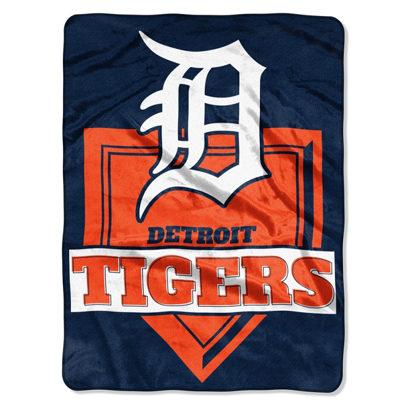 """Detroit Tigers The Northwest Company 60"""" x 80"""" Home Plate Raschel Plush Blanket - No Size"""