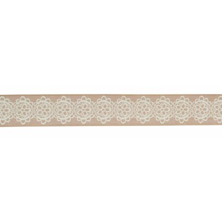 Pack of 6 Beige and Ivory Printed Flower Design Wired...
